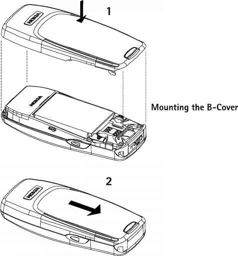 mounting the acover - nokia 3310 nhm