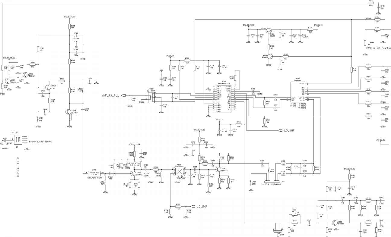 Circuit Diagram of Receiver Version Edit Nokia 6081 NME 2A