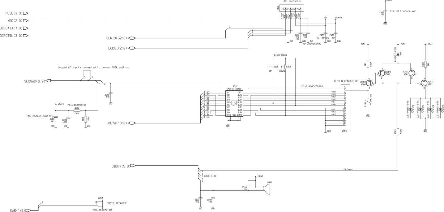 Warnings Nokia 6510 Npm Repair Chicago Wiring Diagram Car Kit Display And Keyboard Interface Version 13 Edit 212 For Layout 01